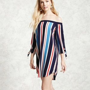 Forever 21 Red White & Blue Striped Dress